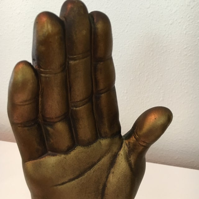 Mid-Century Roman Art Co. Robia Porcelain Hands - A Pair For Sale - Image 10 of 11