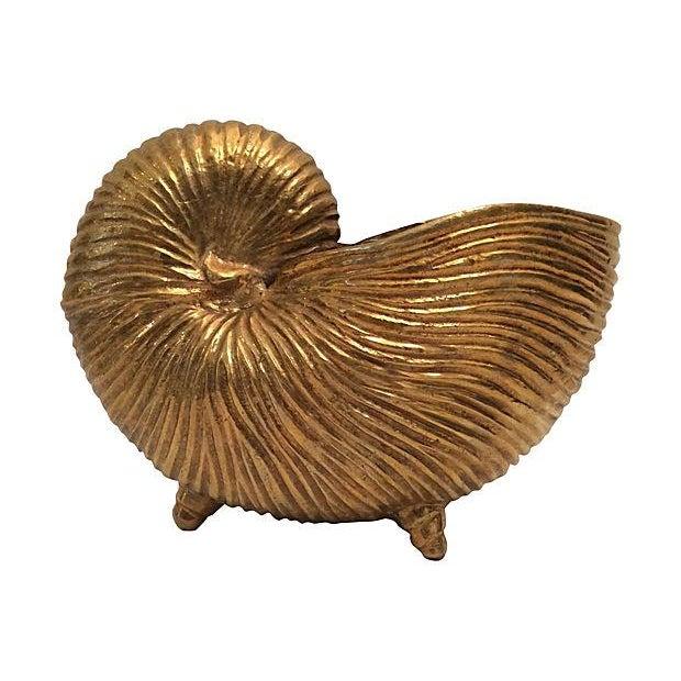 Vintage Brass Seashell - Image 1 of 4
