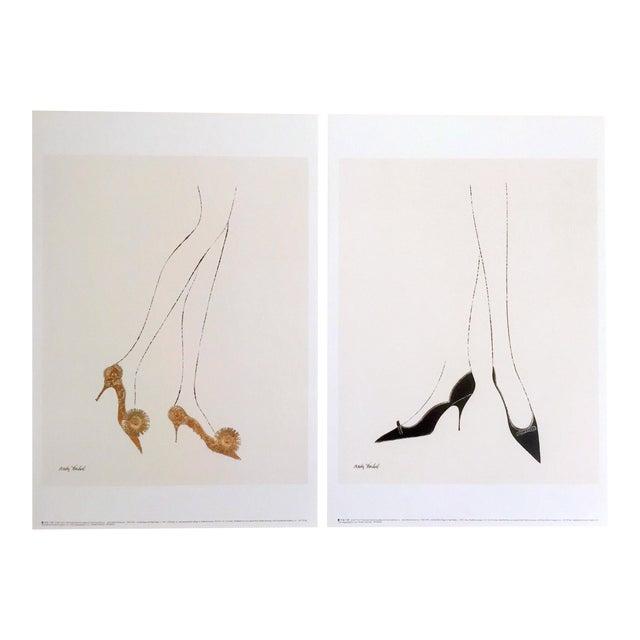 andy warhol fine art lithograph prints high heels shoes 1957 a