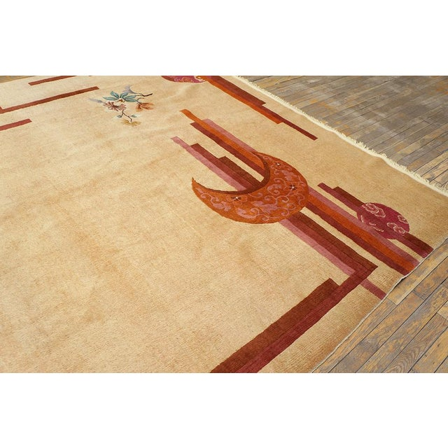 """Chinese Rustic Deco Rug - 8'3""""x10'10"""" For Sale In New York - Image 6 of 7"""