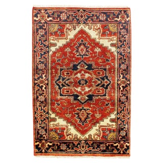 "Traditional Pasargad N Y Serapi Design Hand-Knotted Rug - 2'8"" X 4' For Sale"