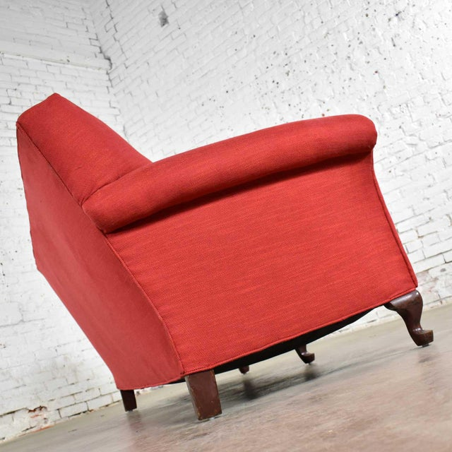 Wood Red Smaller Size Lawson Sofa With Rolled Arms Down Bench Seat and Tight Back For Sale - Image 7 of 13
