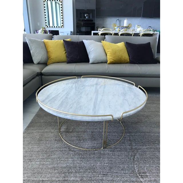 2010s Bijou Cocktail Table in Marble and Matte Gold by Roche Bobois For Sale - Image 5 of 13
