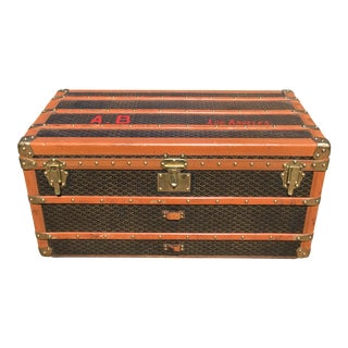 1930s Traditional Goyard Steamer Trunk For Sale