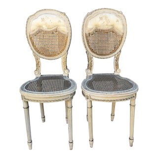 Antique Louis XVI Style Opera Chairs - A Pair