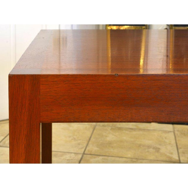 Superb Design Mahogany Table With Drawer By Stan Lind For Geiger