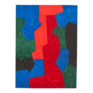 1960s Untitled Abstract Lithograph by Serge Poliakoff For Sale
