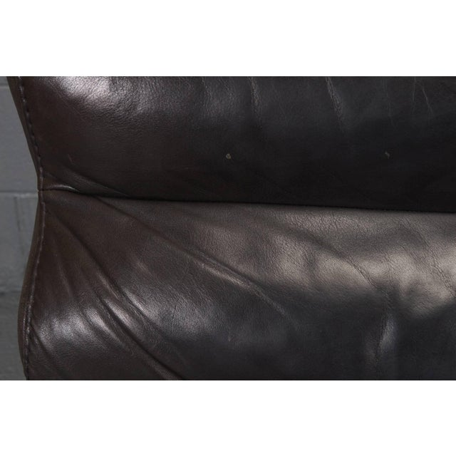 Animal Skin Leather and Steel Lounge Chair in the Style of Arne Norell For Sale - Image 7 of 10