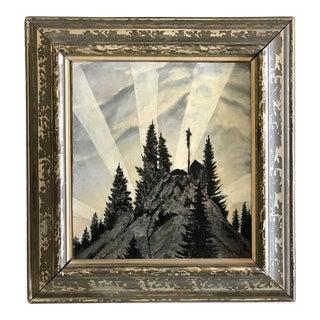 1920s Czech Landscape Painting For Sale