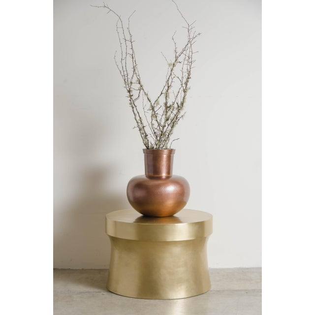 2010s Dong Shan Table - Brass by Robert Kuo, Hand Repousse, Limited Edition For Sale - Image 5 of 6