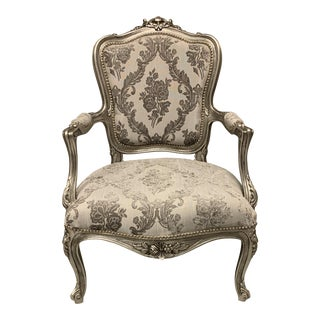 Accent Chair Louis Xv, French Chair, Handmade, Antique Vintage Furniture Reproduction , Victorian For Sale