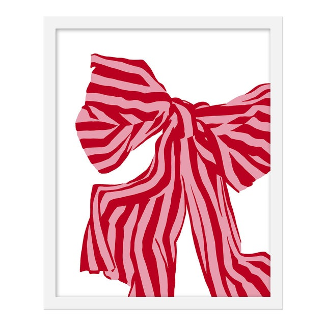 "Small ""Red Bow"" Print by Angela Chrusciaki Blehm, 16"" X 20"" For Sale"