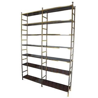 Mid-Century Modern Billy Baldwin for Cole Porter Brass Etagere For Sale
