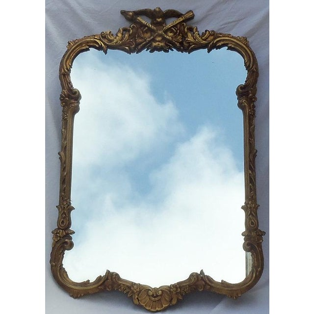 Gesso Antique Civil War Federal Gesso Gold Gilt Mirror For Sale - Image 7 of 7