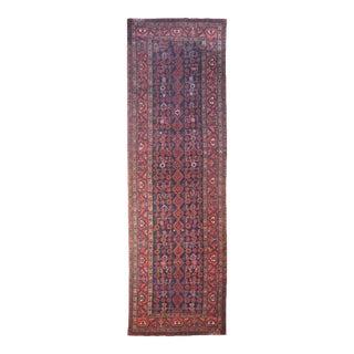 Tribal Burgundy Runner - 3′8″ × 17′3″ For Sale