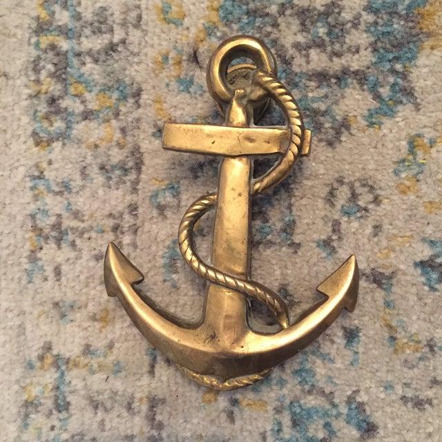 Nautical Coastal Beach House Anchor & Rope Brass Door Knocker - Image 10 of 11