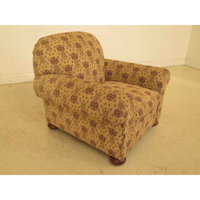 Stickley Native American Print Upholstered Club Chair on