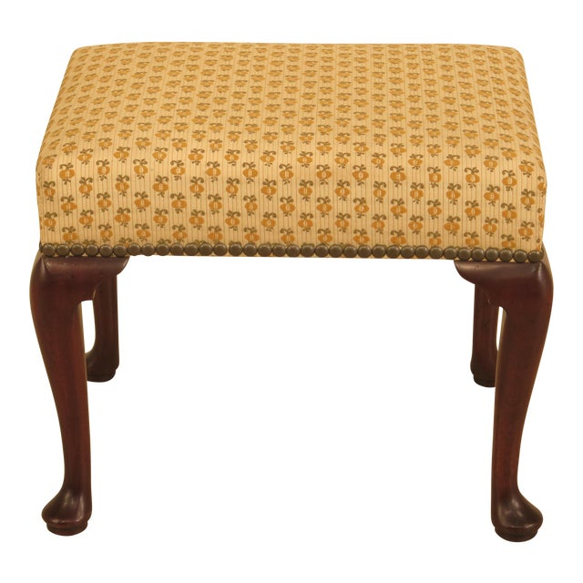 Kittinger Cw-147 Colonial Williamsburg Mahogany Footstool / Ottoman For Sale