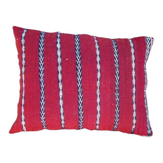 One-of-a-kind Moroccan pillow sham handwoven by the Berbers of the High Atlas Mountains. Featuring an ornate Striped...