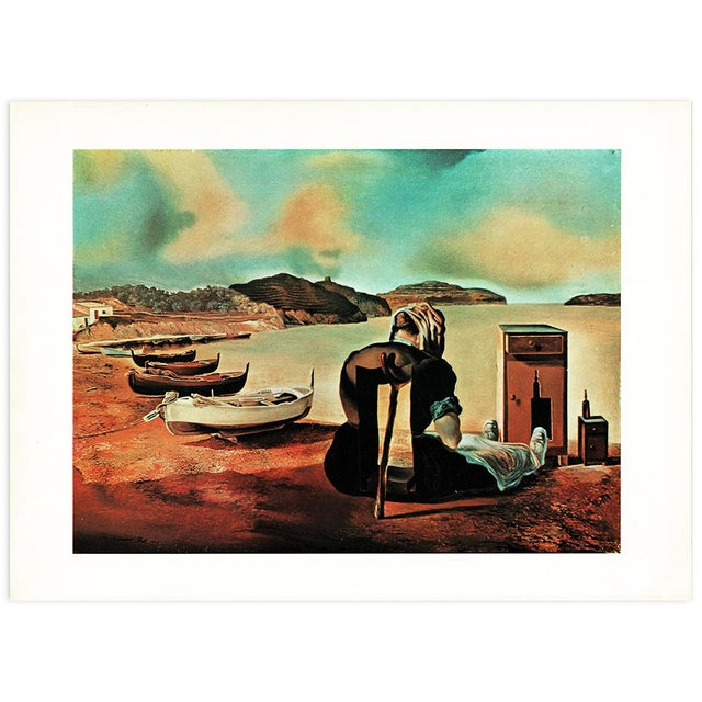 "Green 1957 Salvador Dalí, ""Le Sevrage Du Meuble Aliment"" Large Period Lithograph Print For Sale - Image 8 of 10"