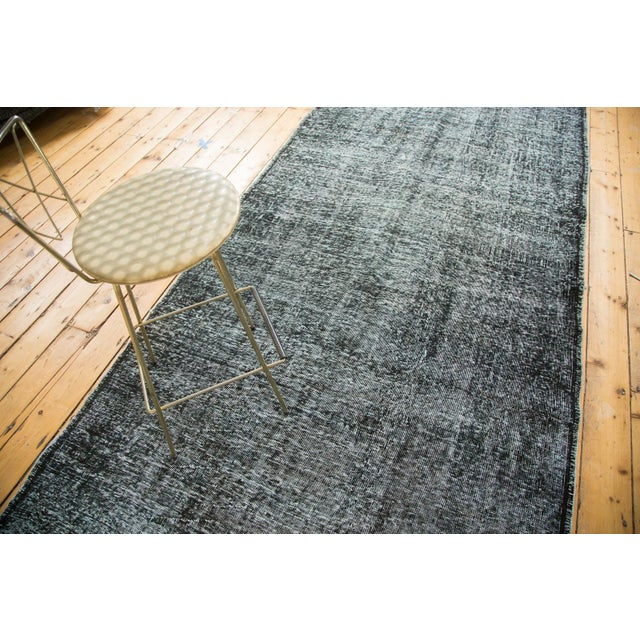 "Vintage Overdyed Gallery Rug Runner - 4'11""x11'10"" - Image 8 of 9"