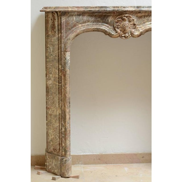 Beautiful Petite Marble Régence Style Fireplace Mantel For Sale - Image 9 of 10
