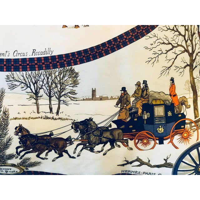 Hollywood Regency Style Hermes 'The Bull and Mouth Regents Circus' Silk Pillow For Sale - Image 9 of 12