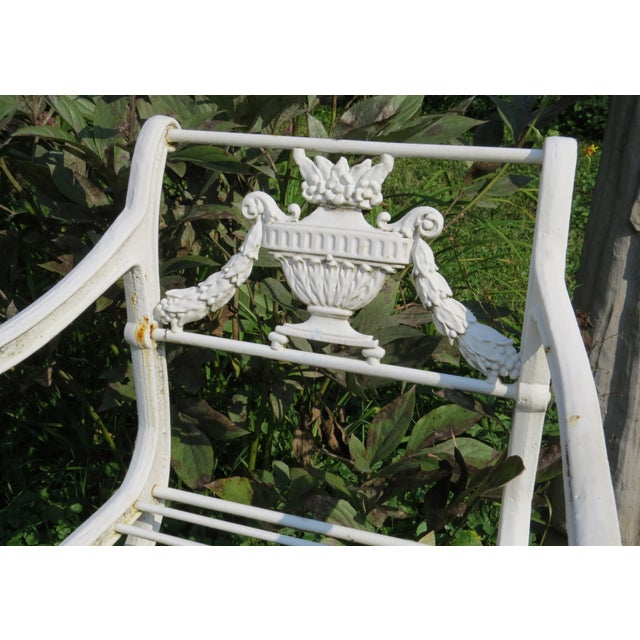 1900s Karl Friedrich Schinkel Style Neoclassical Cast Iron Patio Suite - 4 Pc. Set For Sale - Image 11 of 13