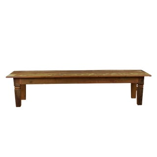 "Reclaimed Wood Dining Bench 94"" Long ""Chinese Feet"""