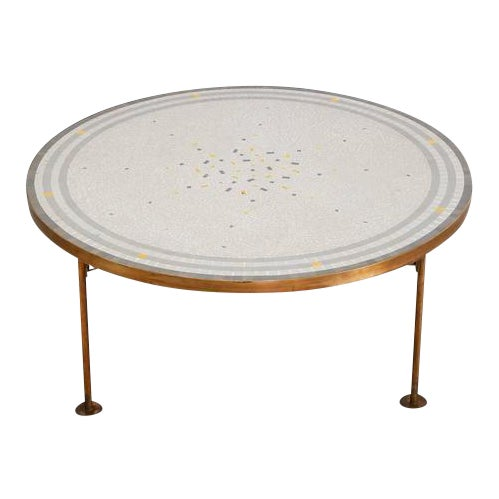 Berthold Muller Mosaic and Brass Coffee Table, Germany, 1960s - Image 1 of 9