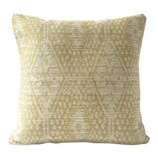 "20"" Jennifer Shorto Woven Gold Pillow Cover For Sale"