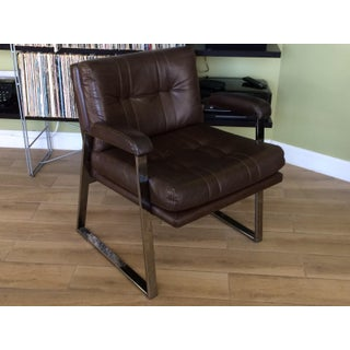 1960s Vintage Patrician Furniture Chrome and Vinyl Armchair Preview