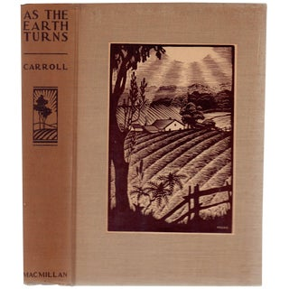 """1934 """"Signed Edition, as the Earth Turns"""" Collectible Book For Sale"""
