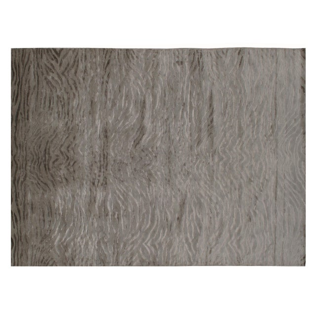 Stark Studio Rugs Contemporary New Oriental Indian Wool Rug - 8′10″ × 12′1″ For Sale