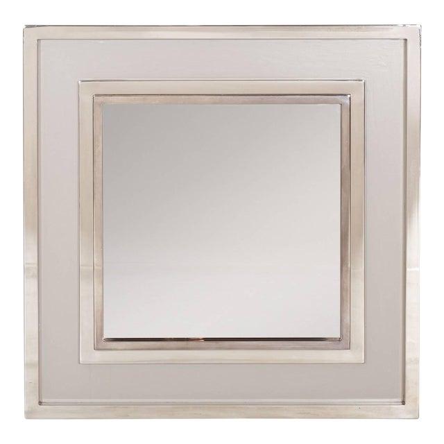 Large Chromed Maison Jansen Mirror For Sale