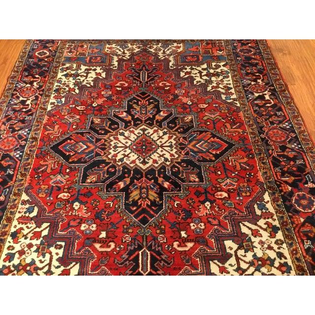 "Vintage Persian Heriz Rug - 6' x 8'5"" - Image 4 of 6"
