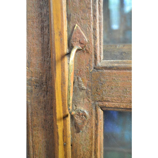 Late 18th Century Late 18th Century Painted Wood Hanging Shelf With Glass Doors For Sale - Image 5 of 6