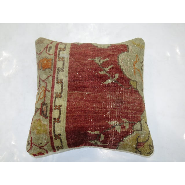 Shabby Chic Turkish Medallion Rug Pillow For Sale - Image 3 of 3