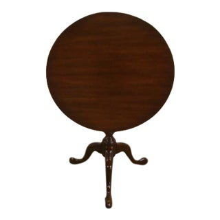 1980s Kittinger Historic Newport Solid Mahogany Tilt Top Table For Sale