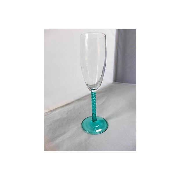Blue Stem Champagnes Glasses - Set of 4 - Image 4 of 7