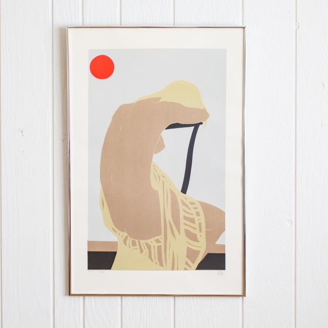 Nude Color Block Linocut Print by Georg Rauch Titled Nicole 1960s - 1970s For Sale - Image 12 of 12