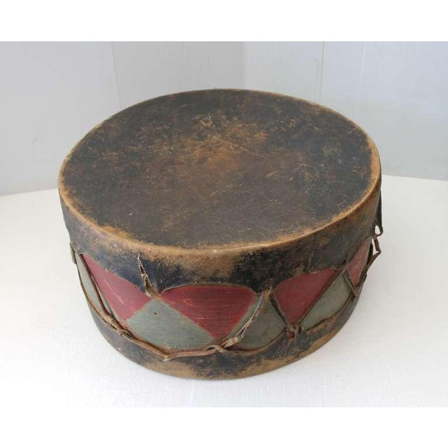 Charcoal Pueblo de Cochiti Ceremonial Drum For Sale - Image 7 of 8