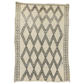 20th Century Moroccan Berber Beni Ourain Diamond Patterned Rug