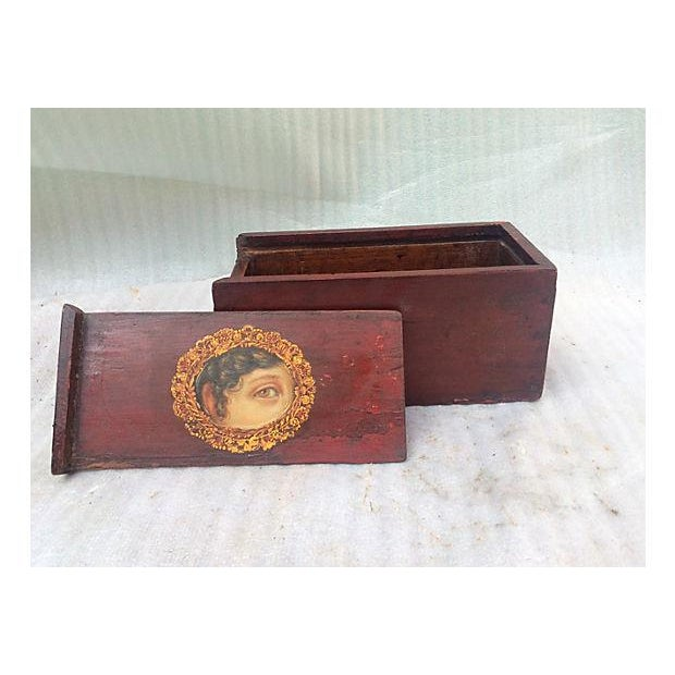 Antique Painted Eye Mystery Box - Image 5 of 6