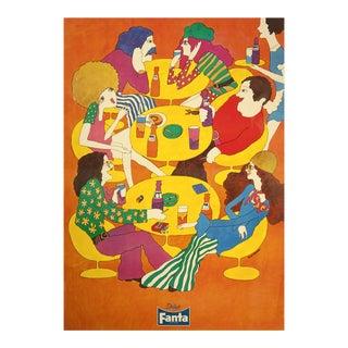"""Vintage """"Drink Fanta"""" Japanese Poster For Sale"""