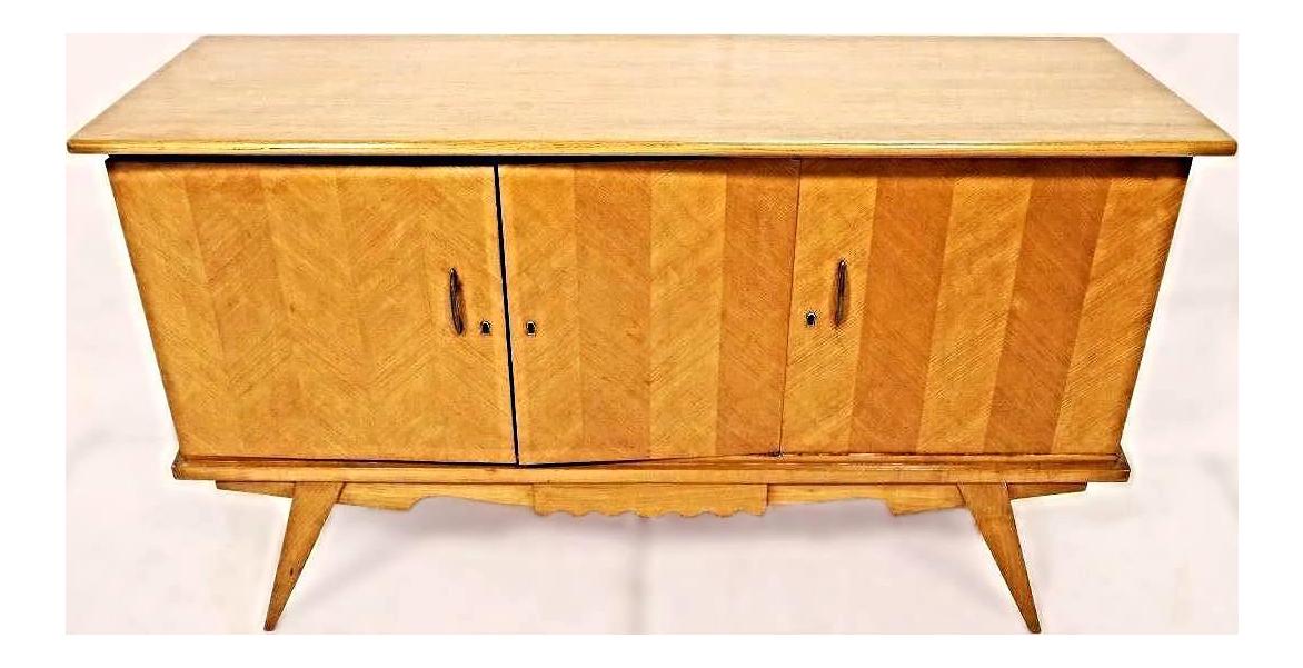 Mid Century Modern Blonde Wood Credenza
