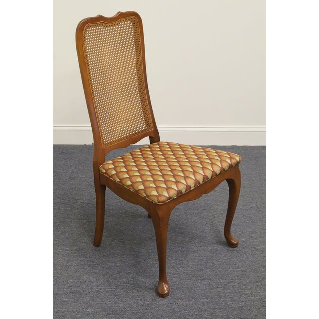 Traditional Late 20th Century Vintage Georgetown Galleries Solid Cherry Cane Back Side Chair For Sale - Image 3 of 10