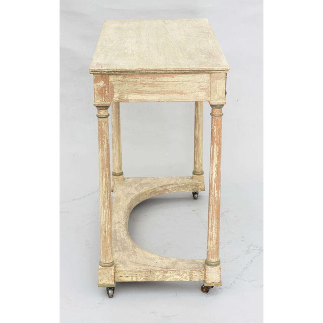 Painted French Empire Console Table For Sale In West Palm - Image 6 of 11