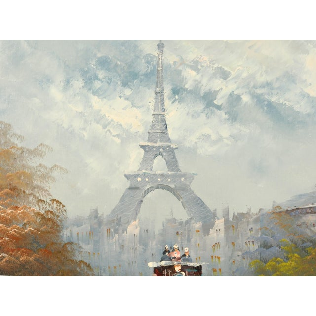 Paris City Street Original Oil Painting For Sale In New York - Image 6 of 8