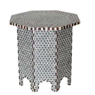 Moroccan Inspired Mother of Pearl Octagonal Side Table